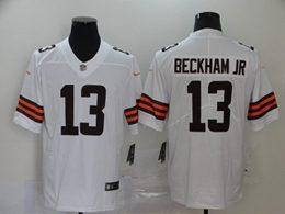 Mens Nfl Cleveland Browns #13 Odell Beckham Jr 2020 White Vapor Untouchable Limited Jersey