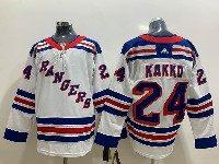 Mens Nhl New York Rangers #24 Kaapo Kakko White Adidas Jersey