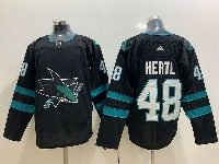 Mens Adidas Nhl San Jose Sharks #48 Hertl Alternate Black Jersey