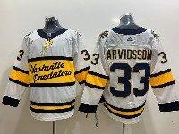 Mens Nhl Nashville Predators #33 Viktor Arvidsson White 2019 Winter Classic Adidas Jersey