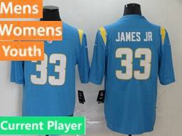 Mens Women Youth Nfl Los Angeles Chargers 2020 Light Blue Current Player Vapor Untouchable Limited Jersey