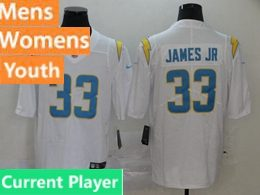 Mens Women Youth Nfl Los Angeles Chargers 2020 White Current Player Vapor Untouchable Limited Jersey