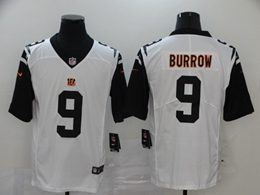 Mens Nfl Cincinnati Bengals #9 Joe Burrow 2020 White Color Rush Vapor Untouchable Limited Jersey