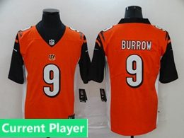 Mens Women Youth Nfl Cincinnati Bengals 2020 Orange Current Player Vapor Untouchable Limited Jersey
