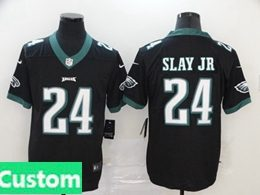 Mens Women Youth Nfl Philadelphia Eagles 2020 Black Custom Made Vapor Untouchable Limited Jersey