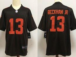 Mens Nfl Cleveland Browns #13 Odell Beckham Jr 2020 Brown Color Rush Vapor Untouchable Limited Jersey