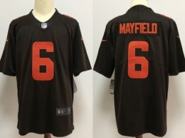 Mens Nfl Cleveland Browns #6 Baker Mayfield 2020 Brown Color Rush Vapor Untouchable Limited Jersey