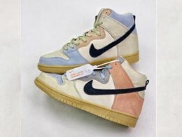 Mens And Women Nike Sb Dunk Spectrum High Running Shoes One Color