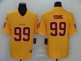 Mens Nfl Washington Redskins #99 Chase Young 2020 Yellow Color Rush Vapor Untouchable Limited Jerseys