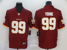 Mens Nfl Washington Redskins #99 Chase Young 2020 Red Vapor Untouchable Limited Jerseys