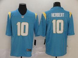 Mens Women Nfl Los Angeles Chargers #10 Justin Herbert 2020 Light Blue Vapor Untouchable Limited Nike Jersey