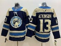 Mens Nhl Columbus Blue Jackets #13 Cam Atkinson Alternate Premier Navy Blue Adidas Jersey
