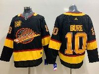 Mens Nhl Vancouver Canucks #10 Pavel Bure Black Adidas 50th Jersey