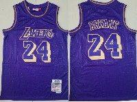 Mens Nba Los Angeles Lakers #24 Kobe Bryant Purple 1996-97 Mitchell&ness Hardwood Classics Jersey