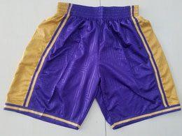Mens Nba Los Angeles Lakers Purple Mitchell&ness Hardwood Classics Shorts