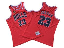 Mens Nba Chicago Bulls #23 Michael Jordan Red 1997-98 Mitchell&ness Hardwood Classics Jersey