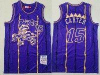 Mens Nba Toronto Raptors #15 Vince Carter Purple Mitchell&ness Hardwood Classics Jersey