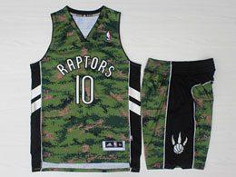 Mens Nba Toronto Raptors #10 Demar Derozan Green Camo Adidas Swingman Suit Jersey