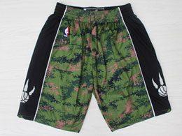 Mens Nba Toronto Raptors Green Camo Adidas Shorts