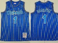 Mens Nba Orlando Magic #1 Anfernee Hardaway Blue Stripe 1994-95 Mitchell&ness Hardwood Classics Jersey