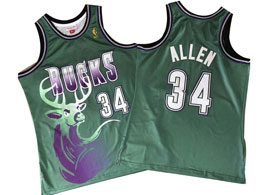 Mens Nba Milwaukee Bucks #34 Giannis Antetokounmpo Green Mitchell&ness Hardwood Classics Jersey