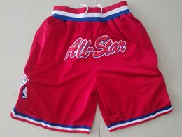 Mens Nba 1991 All Star Red Nike Just Do Pocket Shorts