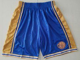 Mens Nba Golden State Warriors Blue Mitchell&ness Shorts