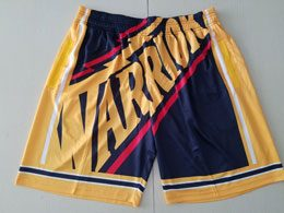 Mens Nba Golden State Warriors Fashion Dark Blue Mitchell&ness Shorts