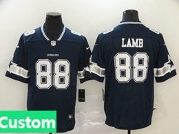 Mens Women Youth Nfl Dallas Cowboys 2020 Blue Custom Made Vapor Untouchable Limited Jersey