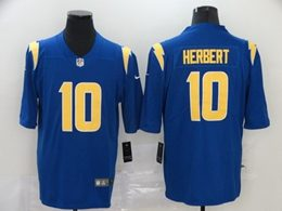 Mens Nfl Los Angeles Chargers #10 Justin Herbert 2020 Blue Color Rush Vapor Untouchable Limited Jersey