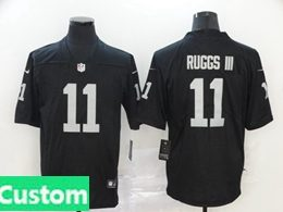 Mens Women Youth Nfl Oakland Raiders 2020 Black Custom Made Vapor Untouchable Limited Jersey