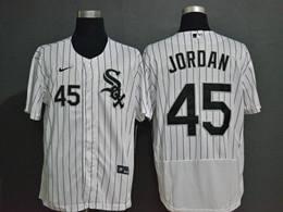 Mlb Chicago White Sox #45 Michael Jordan White Stripe Flex Base Nike Jersey