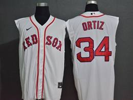 Mens Mlb Boston Red Sox #34 David Ortiz White 2020 Refreshing Sleeveless Fan Cool Base Nike Jersey