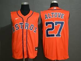 Mens Mlb Houston Astros #27 Jose Altuve Orange 2020 Refreshing Sleeveless Fan Cool Base Nike Jersey