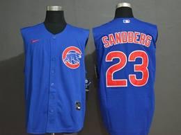 Mens Mlb Chicago Cubs #23 Ryne Sandberg Blue 2020 Refreshing Sleeveless Fan Cool Base Nike Jersey