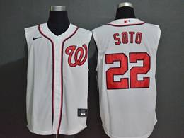 Mens Mlb Washington Nationals #22 Juan Soto White 2020 Refreshing Sleeveless Fan Cool Base Nike Jersey