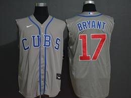 Mens Mlb Chicago Cubs #17 Kris Bryant Gray (cubs On Front) 2020 Refreshing Sleeveless Fan Cool Base Nike Jersey