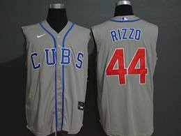 Mens Mlb Chicago Cubs #44 Anthony Rizzo Gray (cubs On Front) 2020 Refreshing Sleeveless Fan Cool Base Nike Jersey