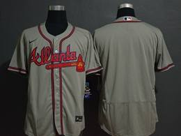 Mens Mlb Atlanta Braves Gray Blank Flex Base Nike Jersey