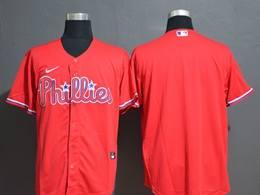 Mens Mlb Philadephia Phillies Red Blank Cool Base Nike Jersey