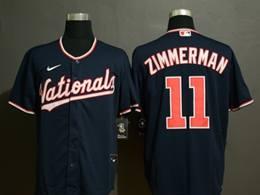 Mens Mlb Washington Nationals #11 Ryan Zimmerman Blue Cool Base Nike Jersey