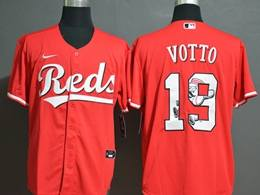 Mens Mlb Mlb Cincinnati Reds #19 Joey Votto 2020 Red Printing Cool Base Nike Jersey