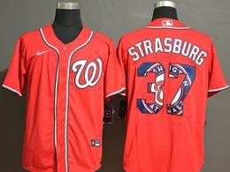 Mens Mlb Washington Nationals #37 Stephen Strasburg 2020 Red Printing Cool Base Nike Jersey