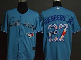 Mens Mlb Toronto Blue Jays #27 Vladimir Guerrero Jr. 2020 Blue Printing Cool Base Nike Jersey