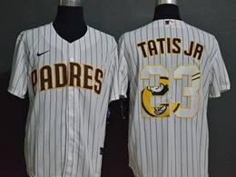Mens Mlb San Diego Padres #23 Fernando Tatis Jr. 2020 White Stripe Printing Cool Base Nike Jersey