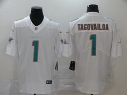 Mens Women Youth Miami Dolphins #1 Tua Tagovailoa 2020 White Vapor Untouchable Limited Jersey