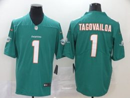 Mens Women Youth Miami Dolphins #1 Tua Tagovailoa 2020 Green Vapor Untouchable Limited Jersey
