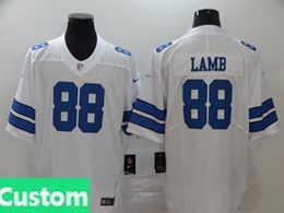 Mens Women Youth Nfl Dallas Cowboys 2020 White Custom Made Vapor Untouchable Limited Jersey
