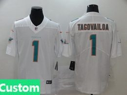 Mens Women Youth Miami Dolphins 2020 White Custom Made Vapor Untouchable Limited Jersey