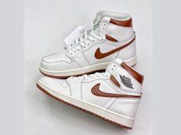 Mens And Women Nike Air Jordan 1 Dark Mocha High Running Shoes One Color
